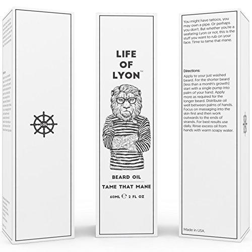 Bartöl von Life of Lyon: Roh. Organisch. Premium. Zähmen Sie Ihre Mähne! 60ml...
